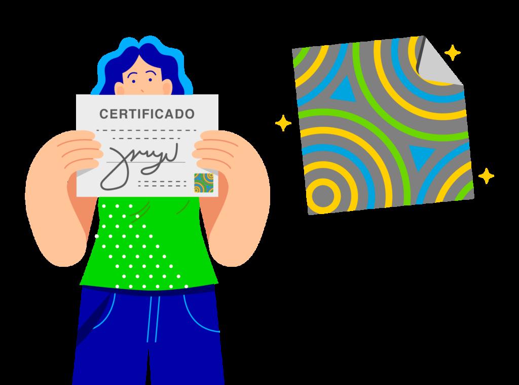 holograma de certificado